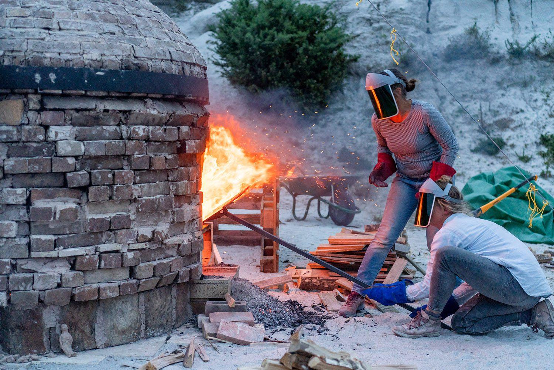 Brickfield Kiln Firing in St Austell