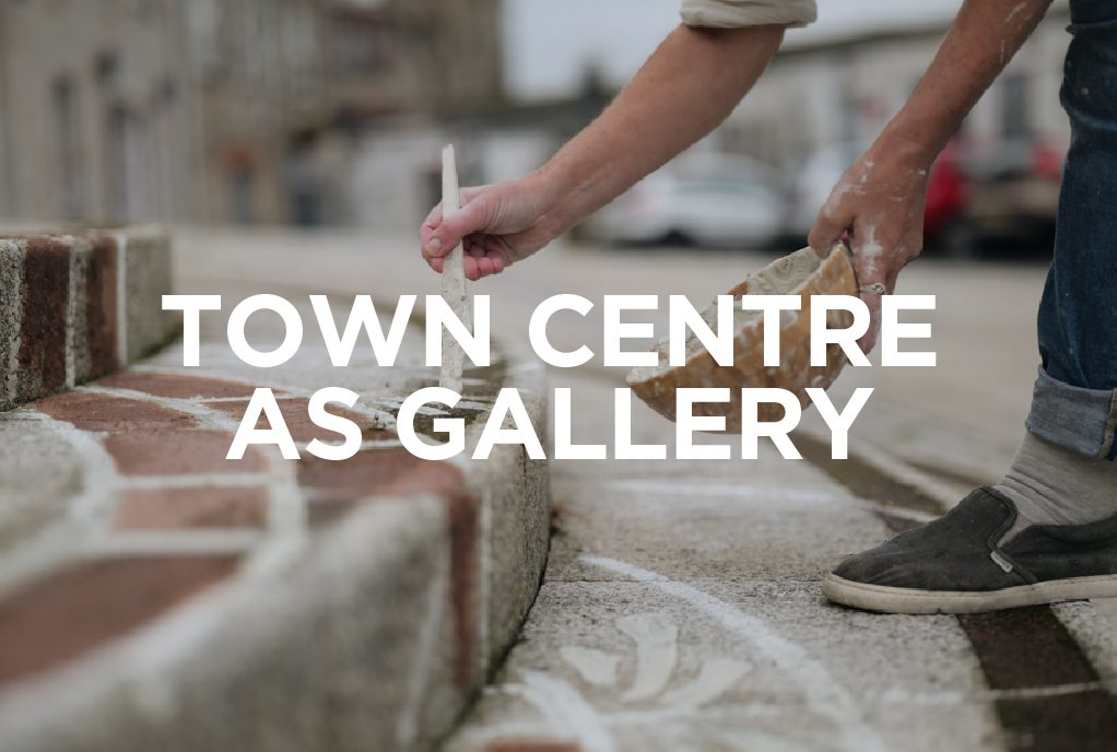 Town Centre art at the Whitegold Festival