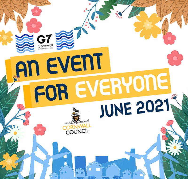 Cornwall G7 event flyer